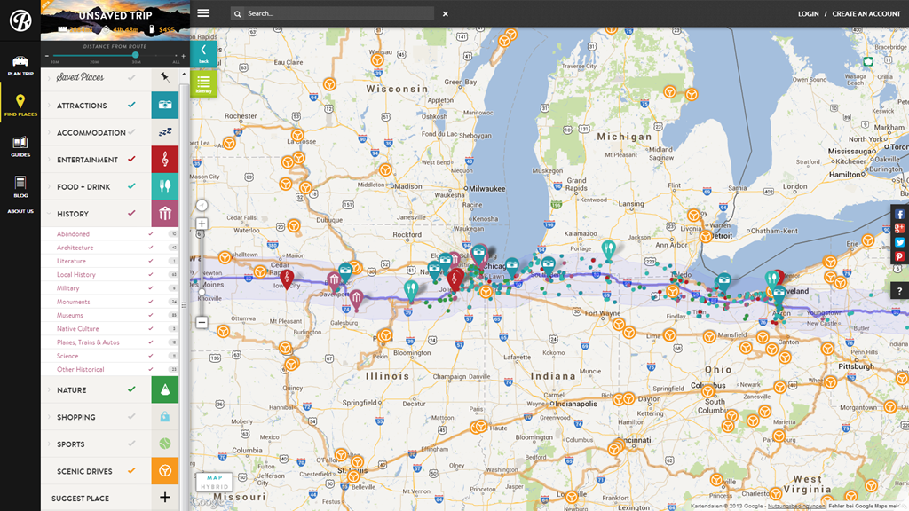 Roadtrippers   Road Trip Planner   Route Planning